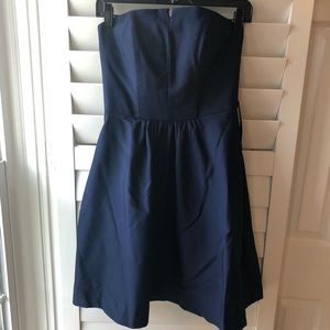 Dresses & Skirts - Navy blue Strapless dress size 2
